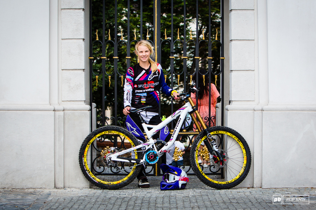 Tracey Hannah and her Polygon DH Prototype