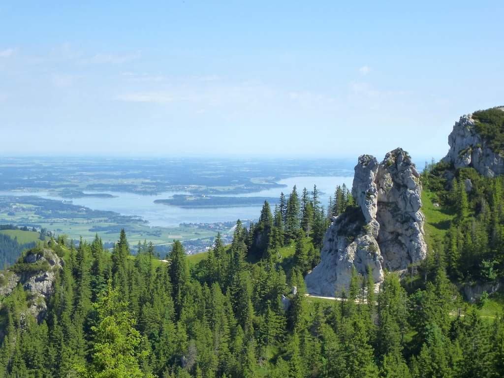 Lake Chiemsee seen from the Kampenwand mountain