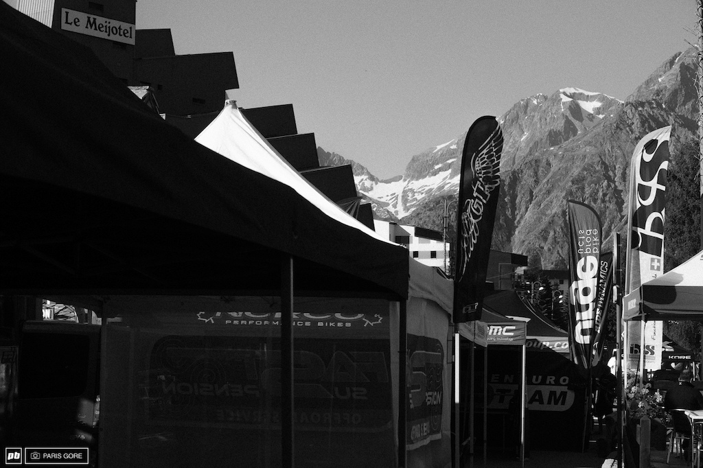 Pits at the base of Les Deux Alps