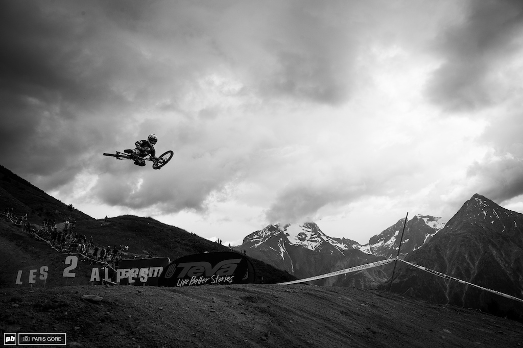 "Austin Warren hitting the ""launch to space button."" Flying high over the French Alps"
