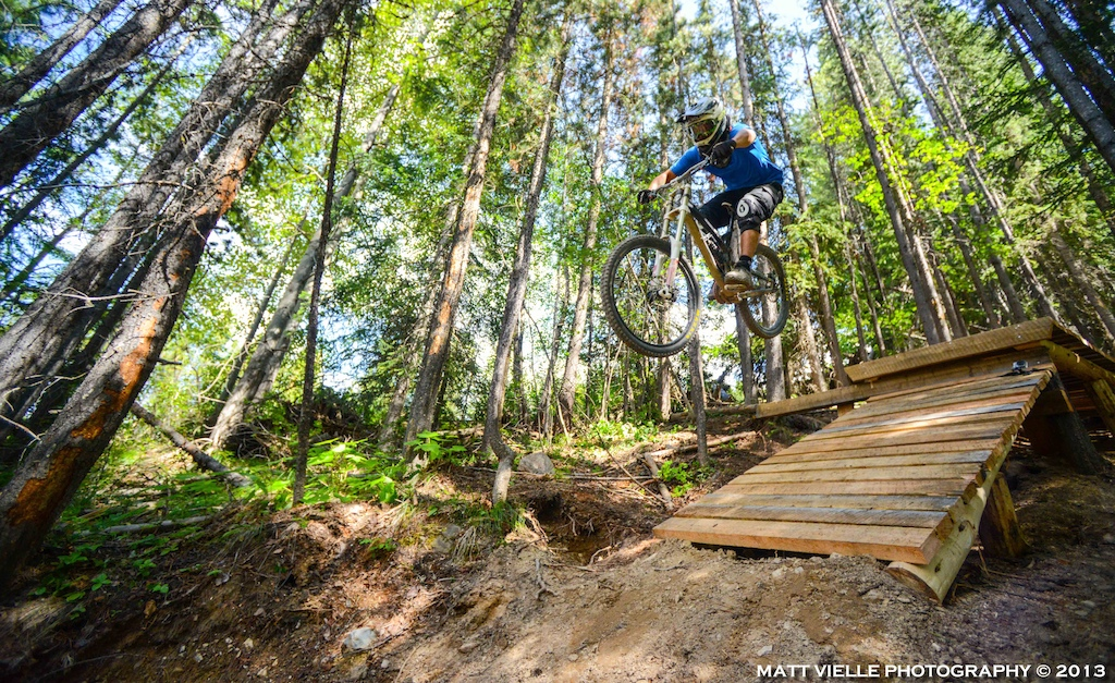 Trail Builder testing the goods