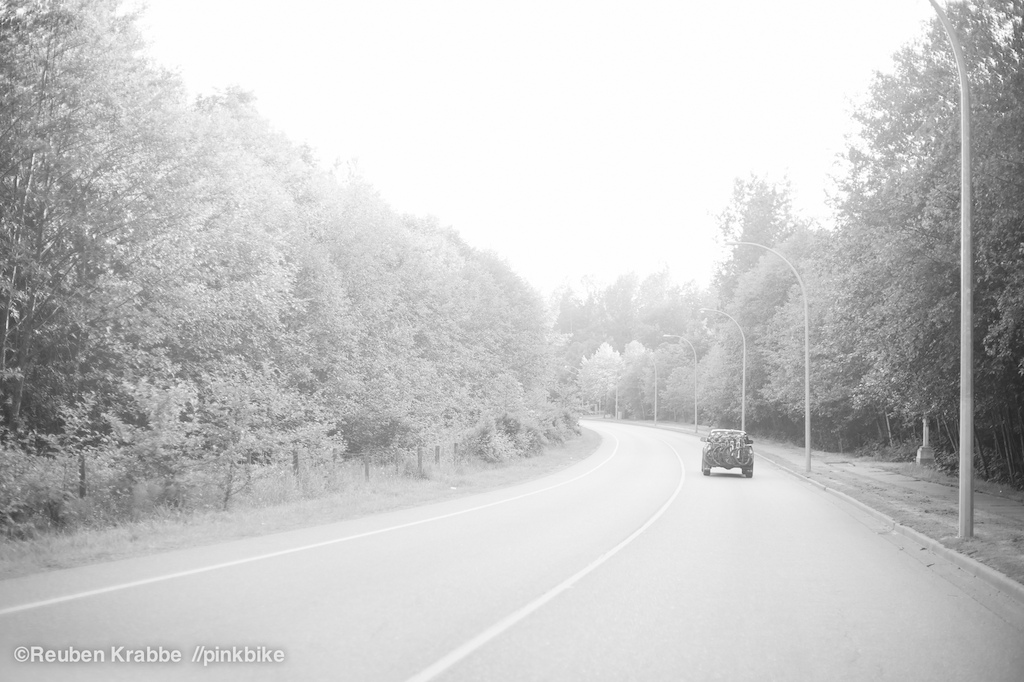 Driving through quaint backroads of the Fraser River Valley