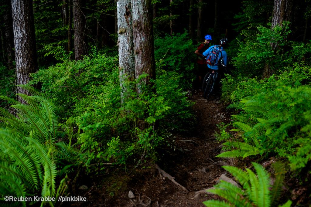 Stephen Matthews and Joe Schwartz resting mid trail on Lorax