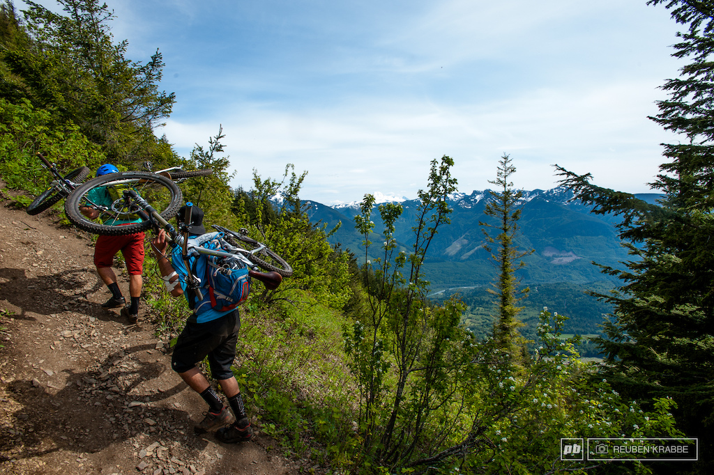 The climb to Thurston isn t a walk in the park. Stephen Matthews and Joe Schwartz