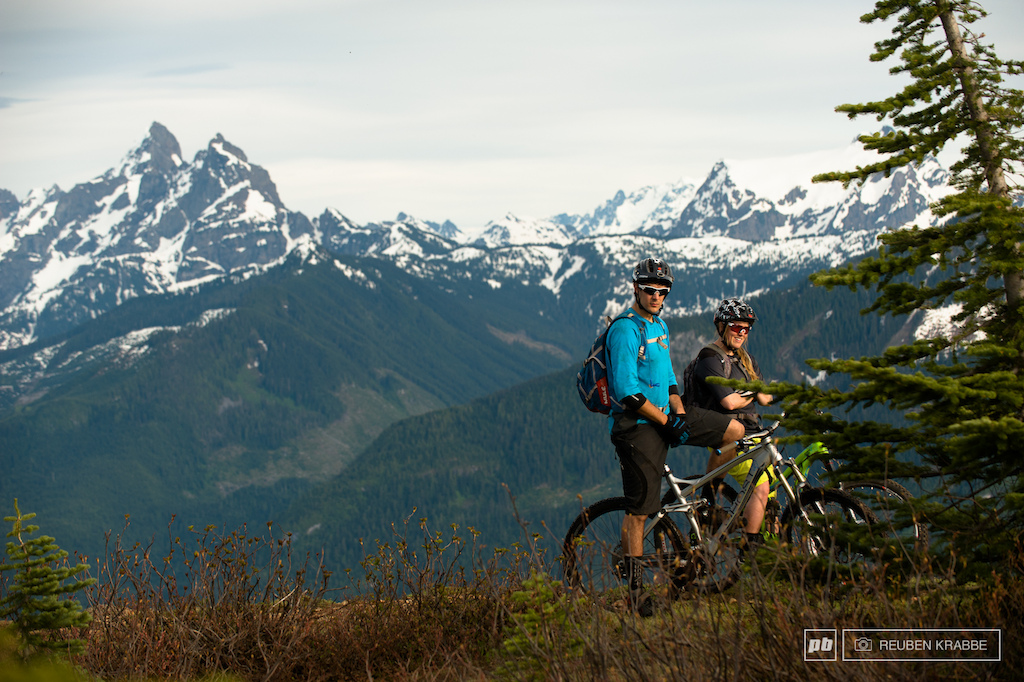Albertan kids in the BC alpine. Thurston s views look across the boarder into Washington state to the south