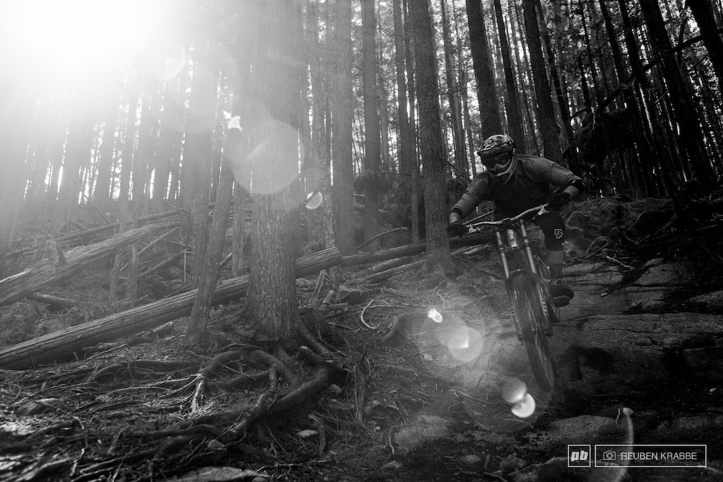 Stephen Matthews can t skip a stone but skips his bike down the sides of mountain.