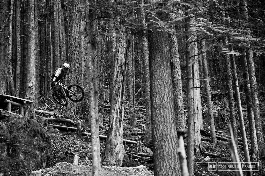 Arduum DH weaves through massive trees has massive airs and massive commitment.