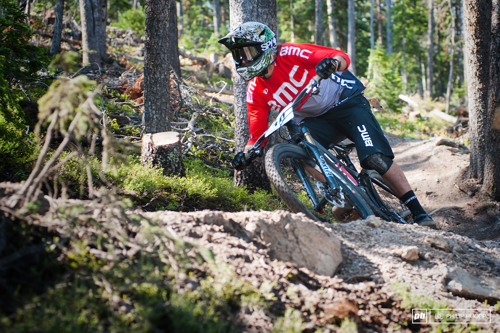 Aaron Bradford is BMCs hope for the first podium after Francois Bailly Maitre broke his collarbone in Val d Allos.