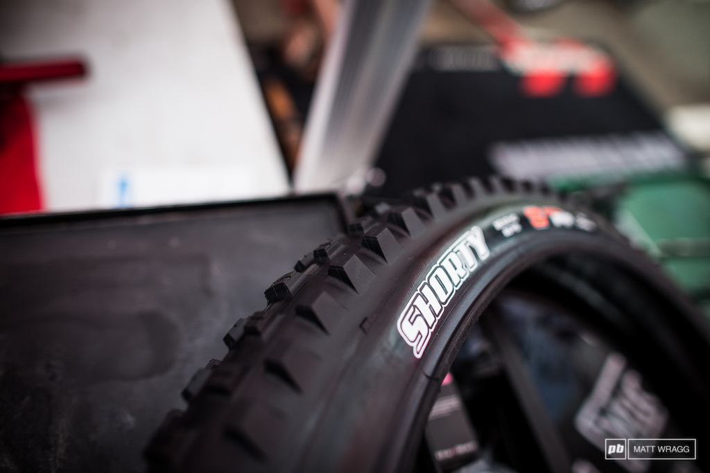 The Syndicate received a big box from Maxxis this weekend with some exciting-looking new tyres in them. The one that has us most excited is this the Shorty.