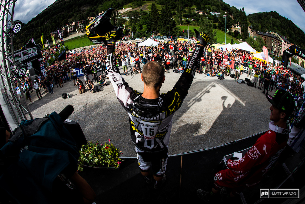 ...Ladies and gentlemen the winner of the Andorra World Cup 2013. Remi Thirion