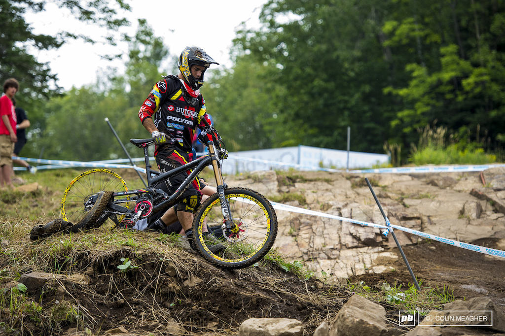 Remi Gauvin managed to hit 64kmp at the speed trap--but things went awry from there.