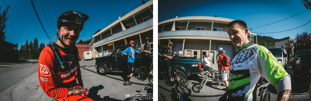 Duncan Riffle and Curtis Keene popped by to say hi before a day of Enduro training.