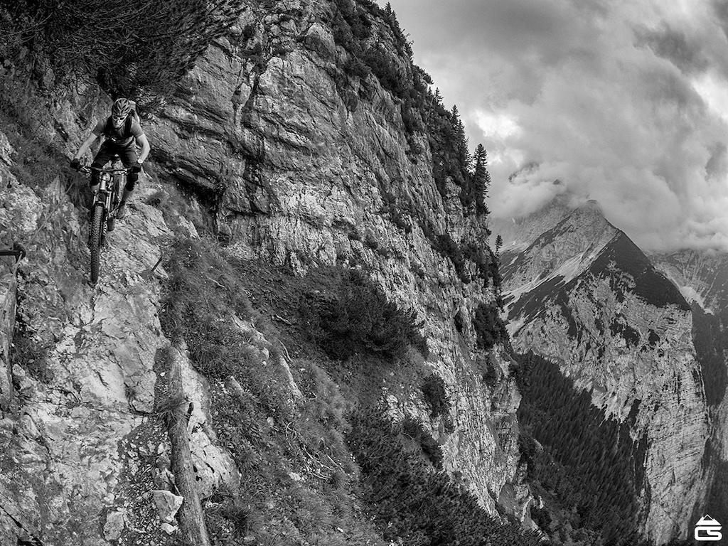 Steep, technical and exposed riding close to Garmisch.