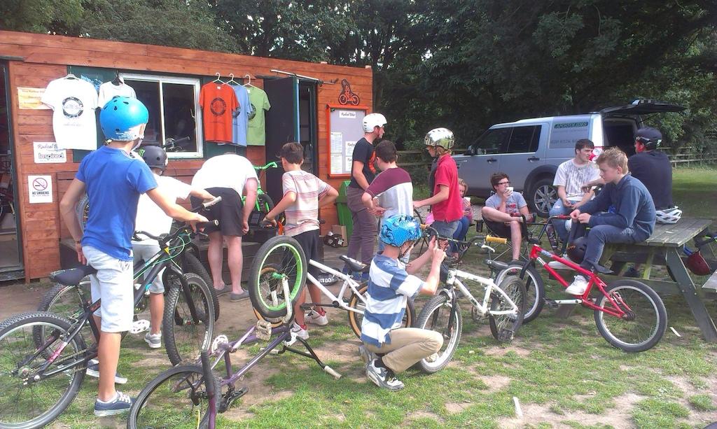 Running repairs at the Bike Hut