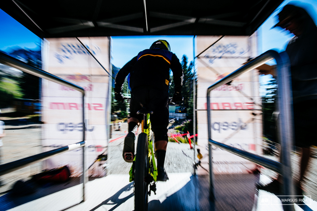 Start gate action at the world famous Garbonzo DH.