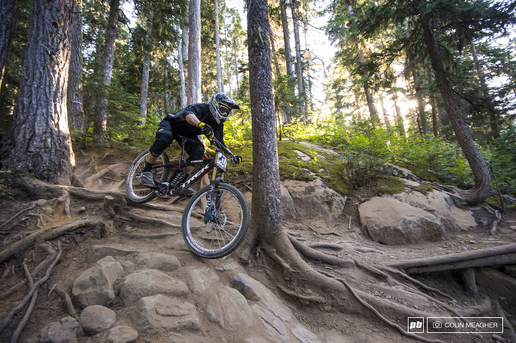Nice to know that the guy tuning your suspension can actually ride isn t it Eli Krahenbuhl of Fox Racing Shox took 30th in the Pro men s category of the Garbo DH.