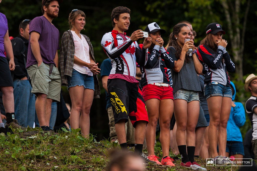 The most invested fans of the week were Stevie s teammates. Gianluca Vernassa took 5th in the junior race ear