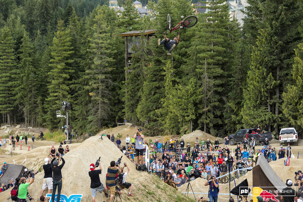 Yannick Granieri taking home second with the flip double whip.