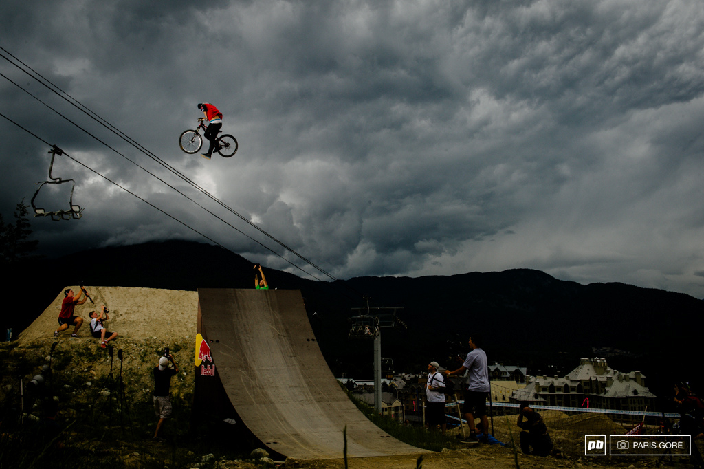 Martin Soderstrom took a little fun lap for the crowd. Many of the guys are saving their talent for Saturday s Red Bull Joyride and opted out of Best Trick.