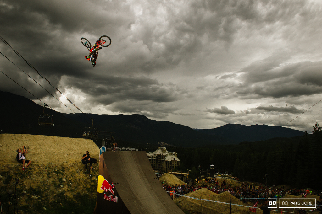 Mike Montgomery going through the phases of a flip bar hump to tailwhip. Best trick in the books by far.