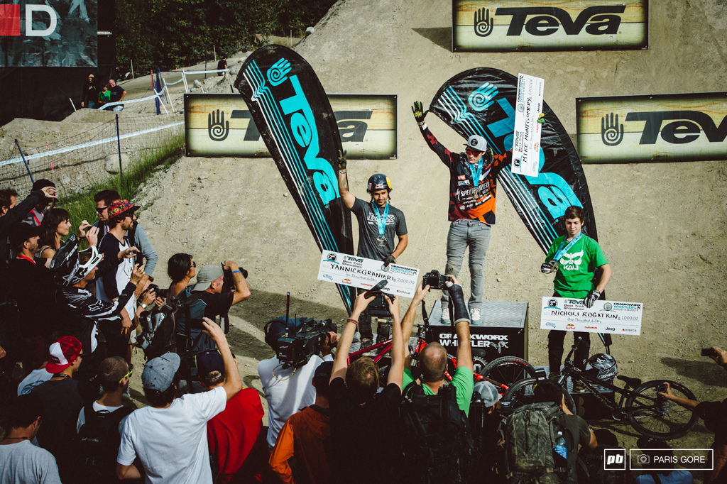 Mike Montgomery for the win here in Whistler at the Teva Best Trick.
