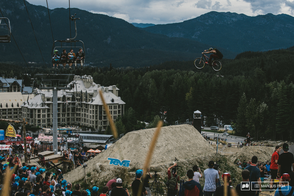 Jordie Lunn won this event last year. This year he played it smart and took it easy on all but one of his runs...trying to blast out another corked double but unfortunately he just couldn t stick the landing. So close.