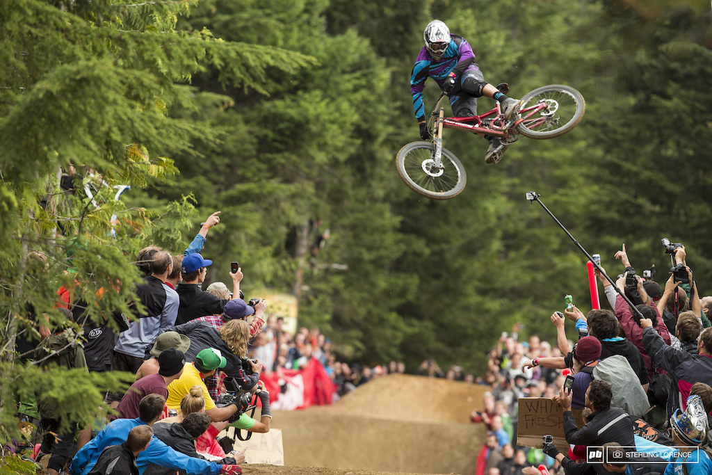 Thomas Vanderham at the official whip off championships Crankworx 2013.