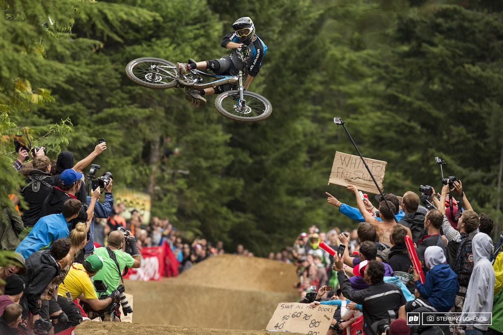 Kurt Sorge at the official whip off championships Crankworx 2013.