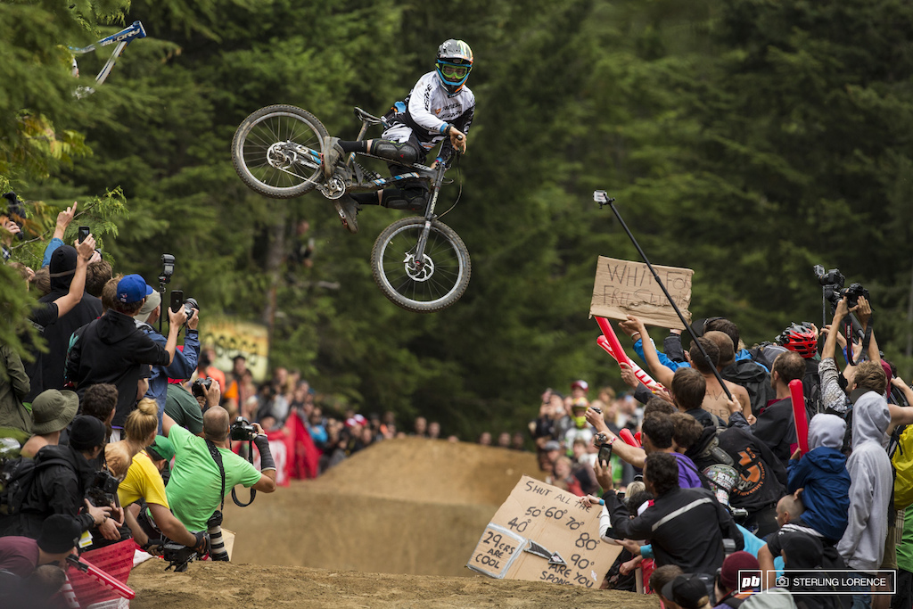 Sam Blenkinsop at the official whip off championships Crankworx 2013.