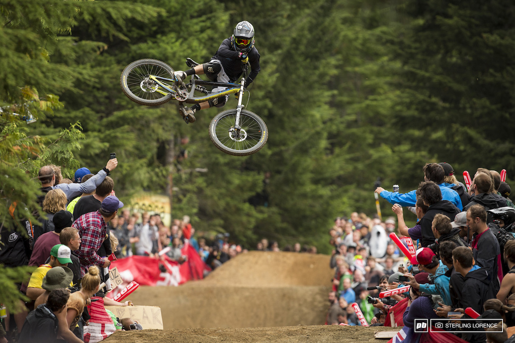 Tyler McCaul at the official whip off championships Crankworx 2013.