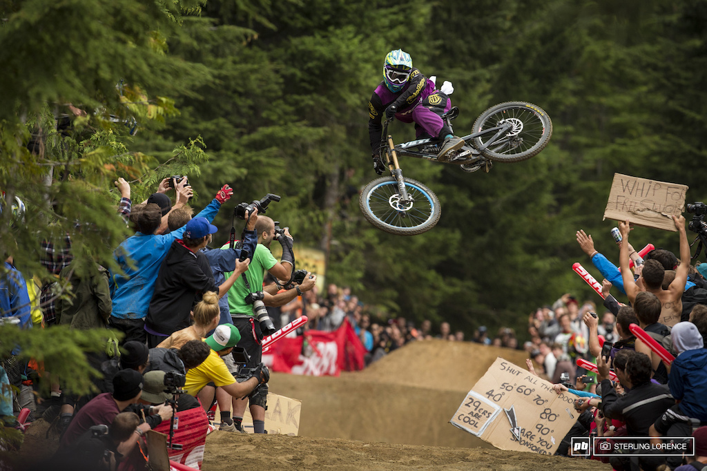 Eliot Jackson at the official whip off championships, Crankworx 2013.