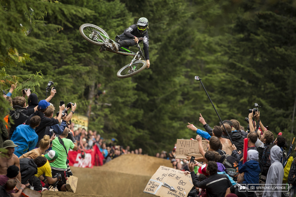 Graham Agassiz at the official whip off championships Crankworx 2013.