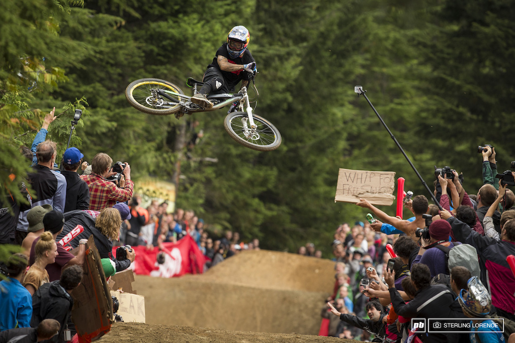 Andreu Lacondeguy at the official whip off championships Crankworx 2013.