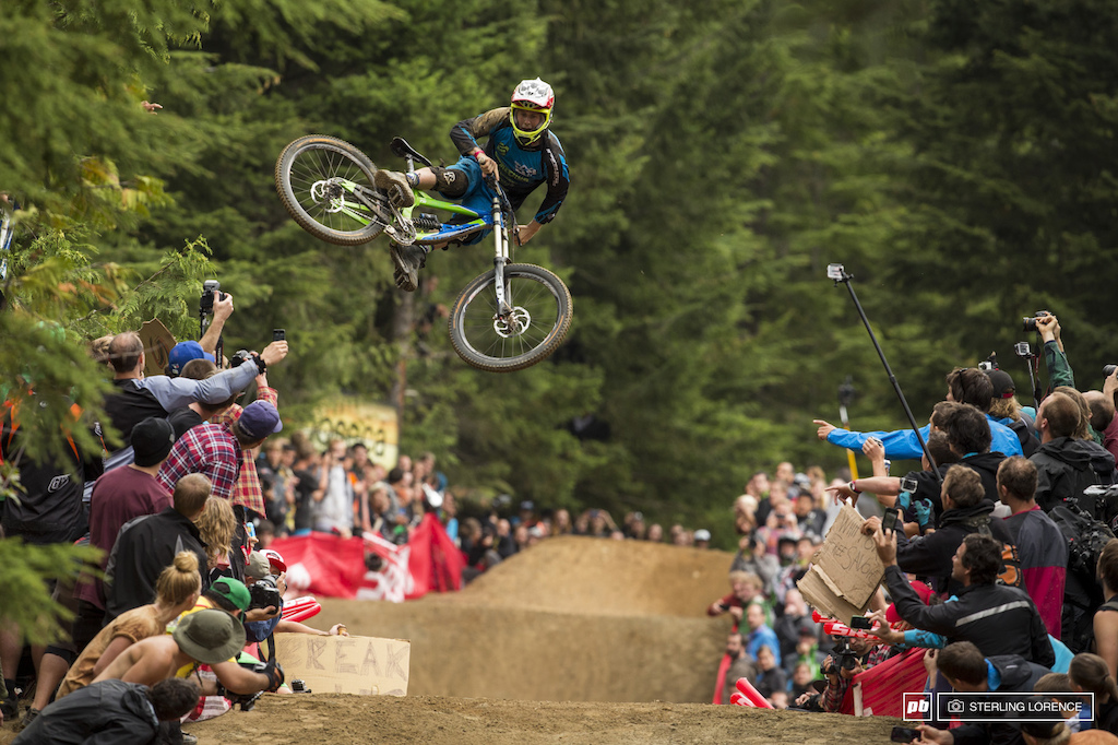 Victor Smith at the official whip off championships Crankworx 2013.