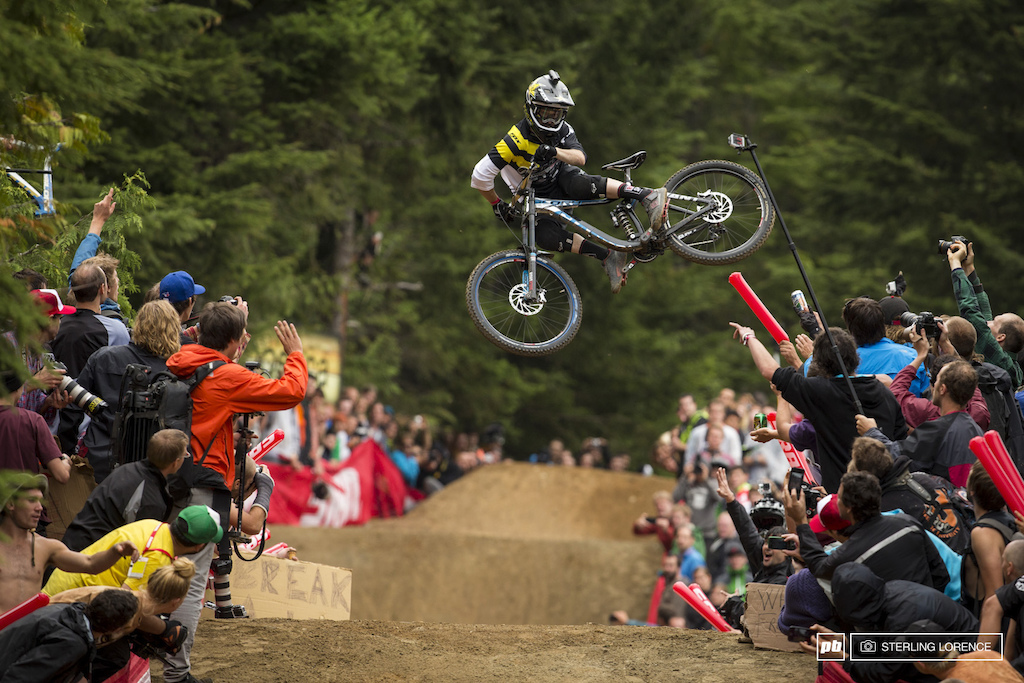 Danny Hart at the official whip off championships Crankworx 2013.