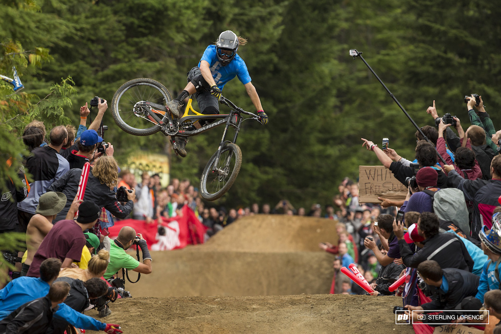 Ian Morrison at the official whip off championships Crankworx 2013.