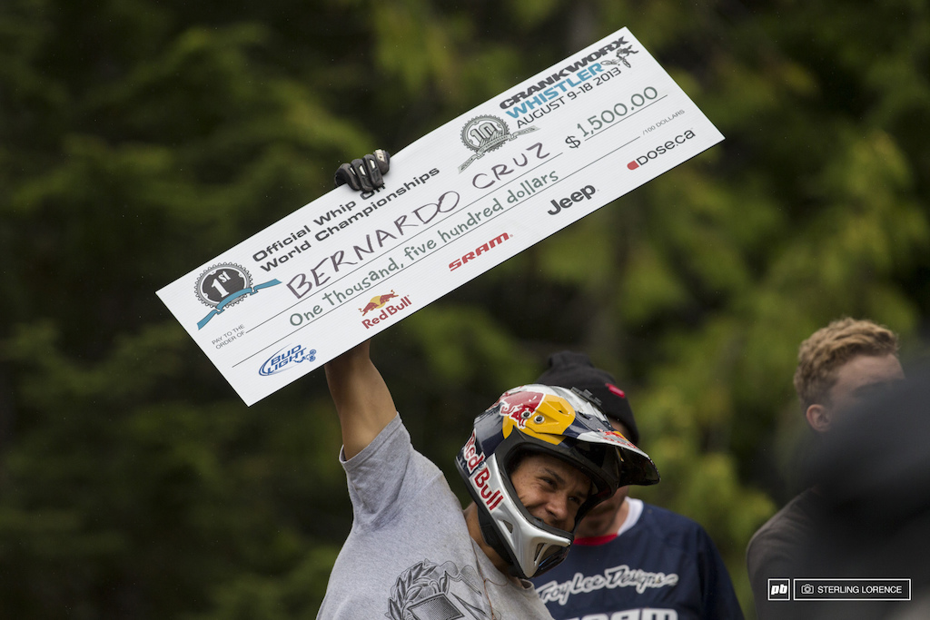 Bernardo Cruz at the official whip off championships Crankworx 2013.