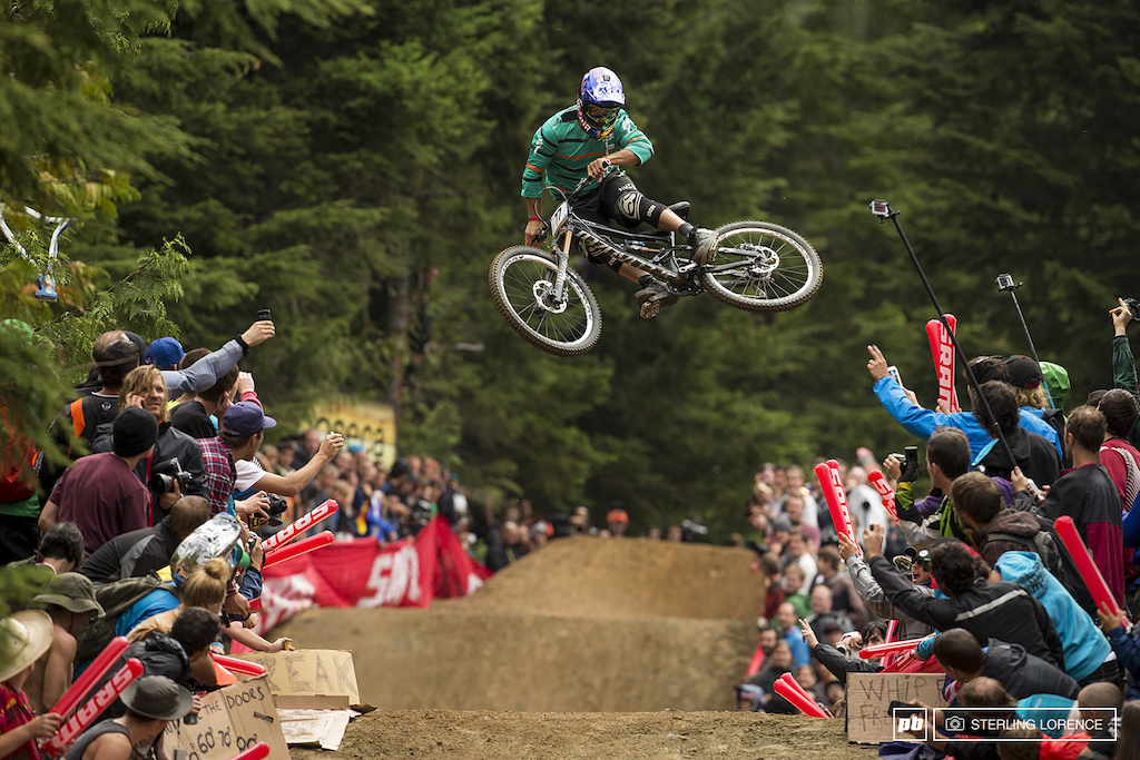 Darren Berrecloth at whip off championships, crankworx 2013, whistler, bc