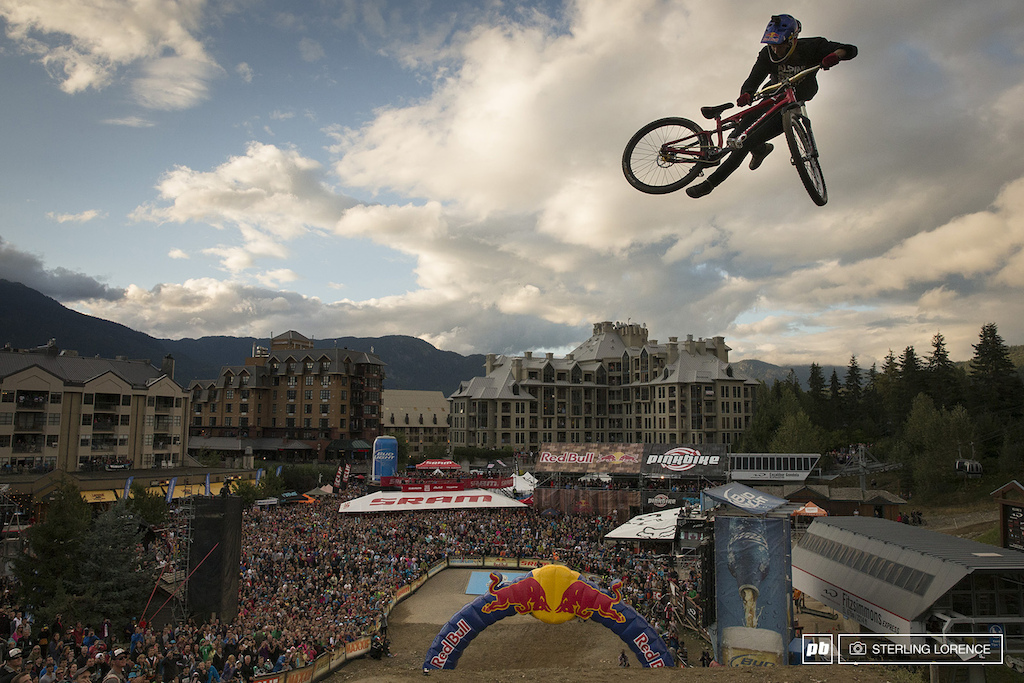 Martin Soderstrom s attempted 360 double whip at Redbull Joyride 2013 Crankworx Whistler