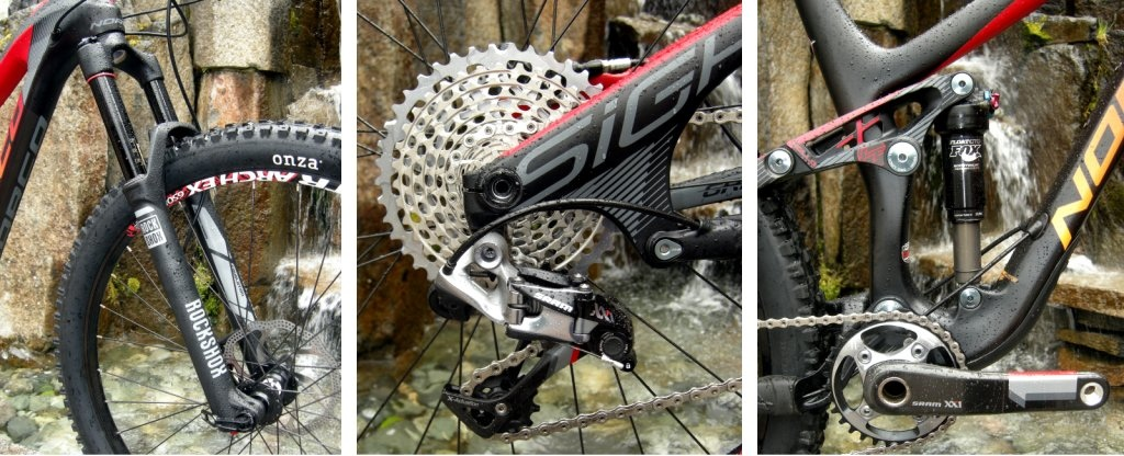 Norco Sight LE Carbon suspension details