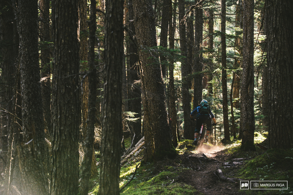 The Backdoor trail is a huge descent. It s diversity is it s greatest asset Sub alpine start steep rooty old school gnar low angle flat out mossy forest shredding and finally tipping over into more steep rooty forested radness. A true mountain bike trail.