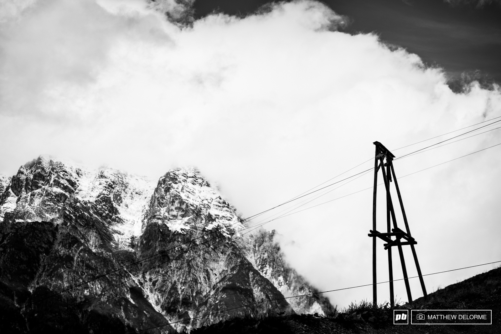 Across the way, jagged granite peaks loom large.