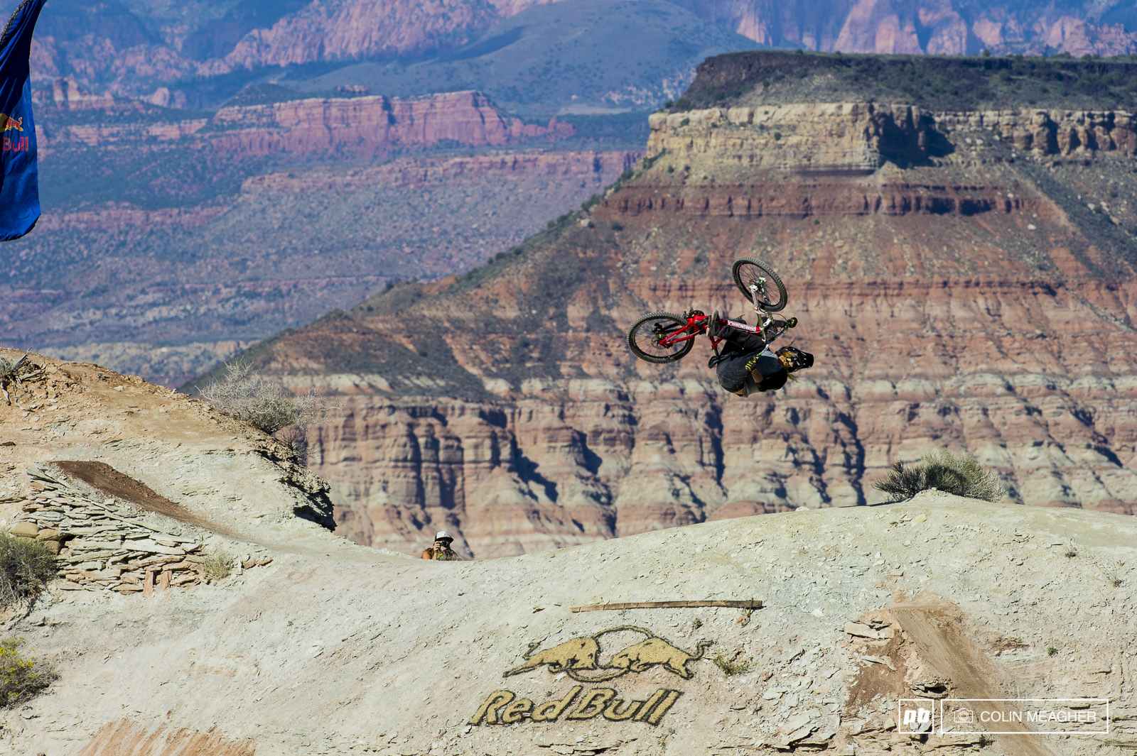 Kelly McGarry gettin upside down. How anyone that tall can pull a back flip on that small of a hit is beyond me.