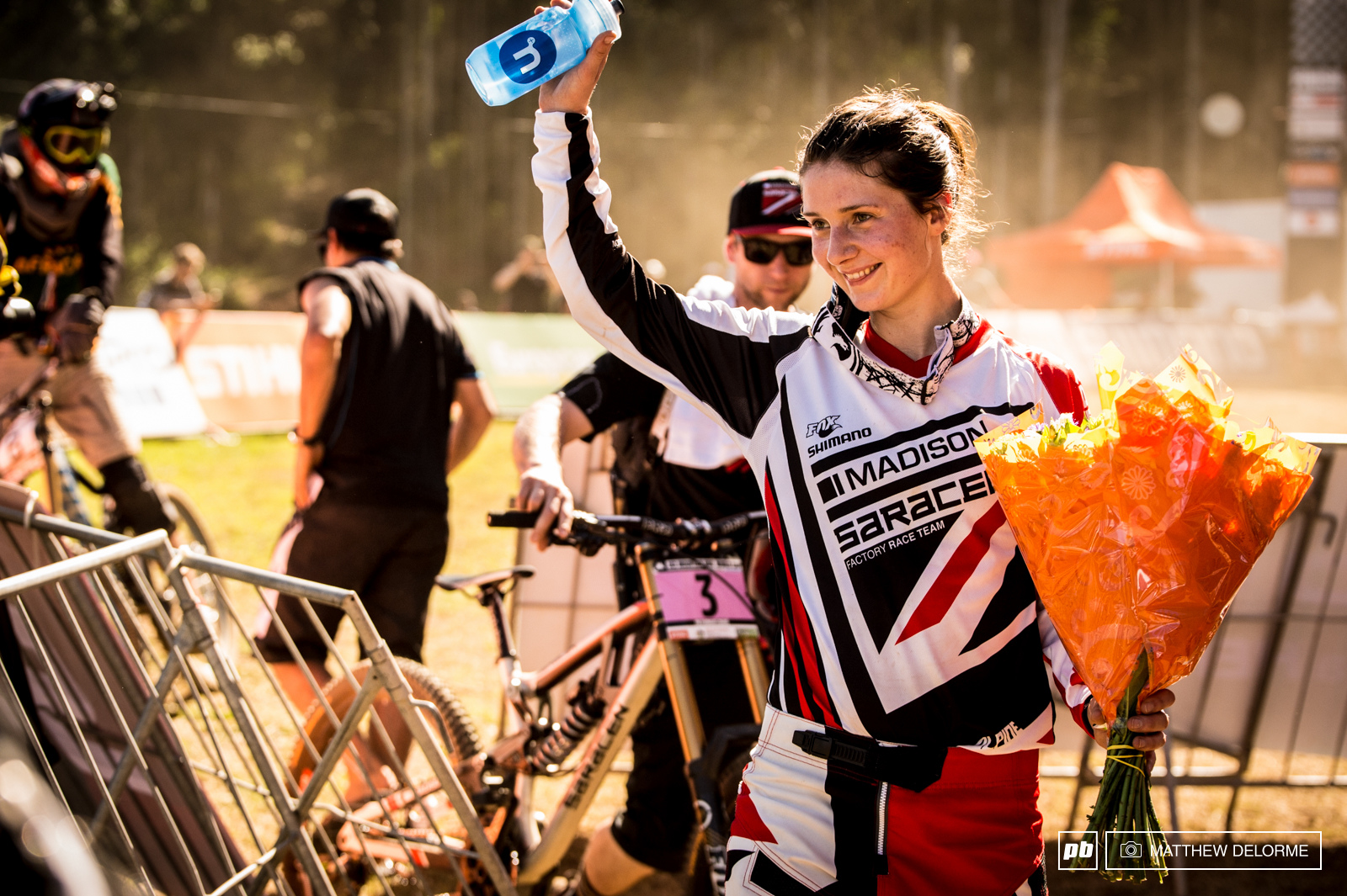Manon Carpenter had what it took today. Following the theme of making good on qualifying results Manon finished 3.908 seconds up on Rachel Atherton.