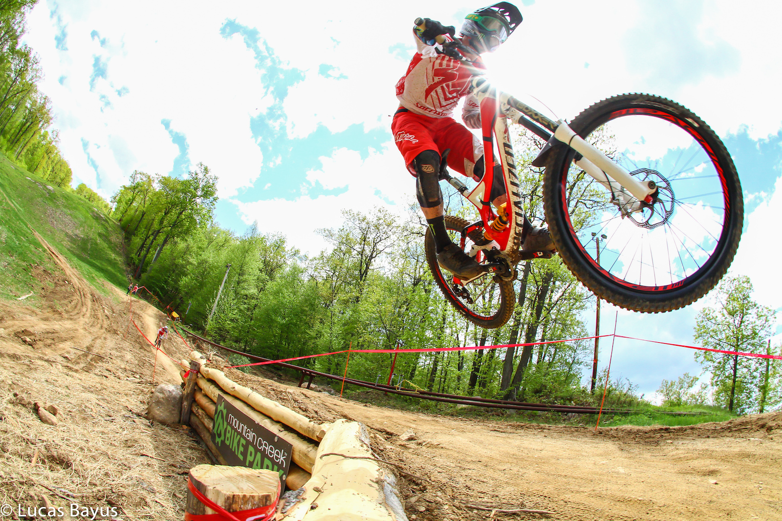 Mitch staying low over the hip at Mountain Creek