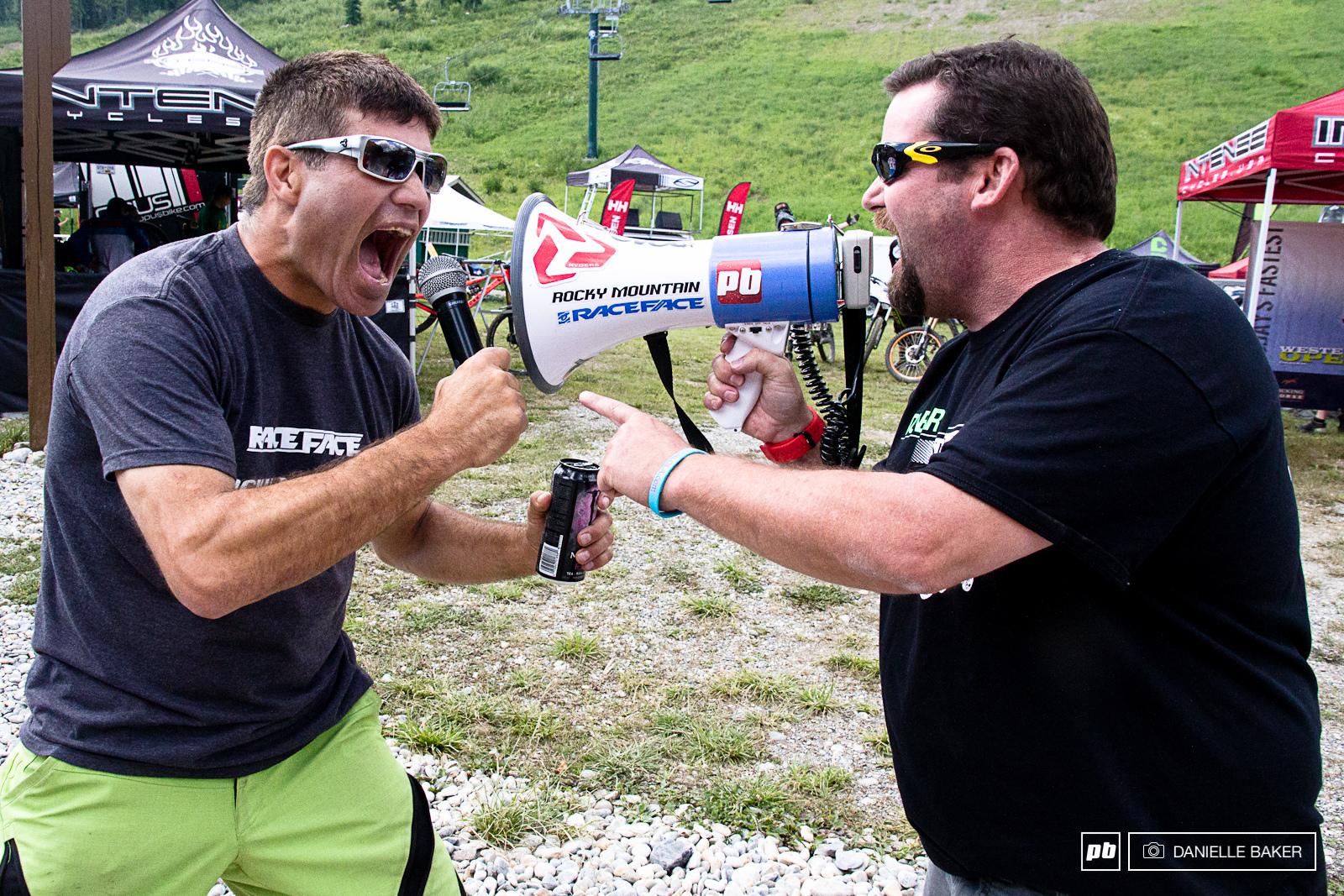Tippie gets loud with event organizer Stephen Exley.