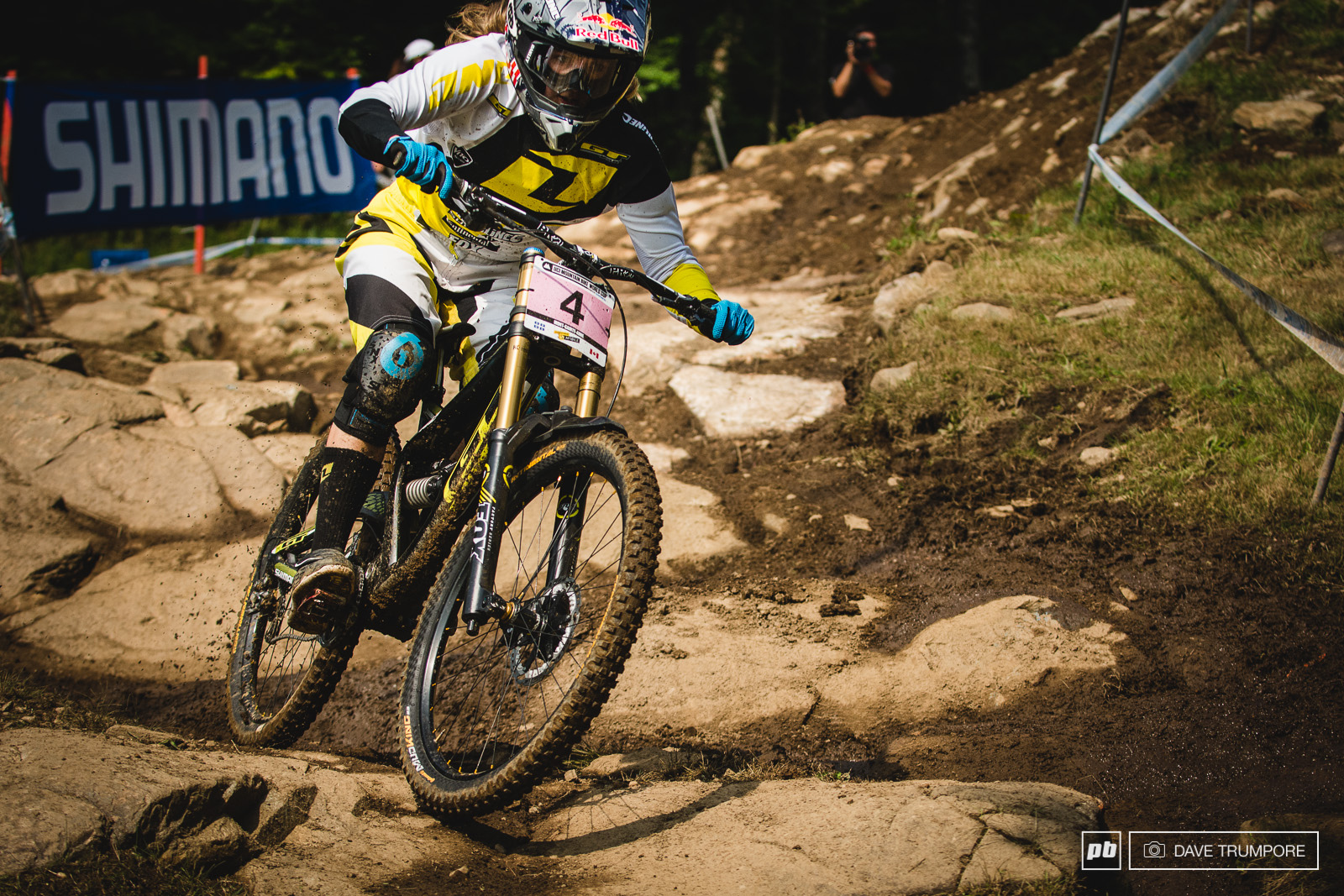 Rachel Atherton was on a very fast run but would loose time to Manon through the lower woods. AN early season illness set her back a bit in training which makes these long tracks difficult but look for her to have no troubles with fatigue next week in Windham on a much shorter track.