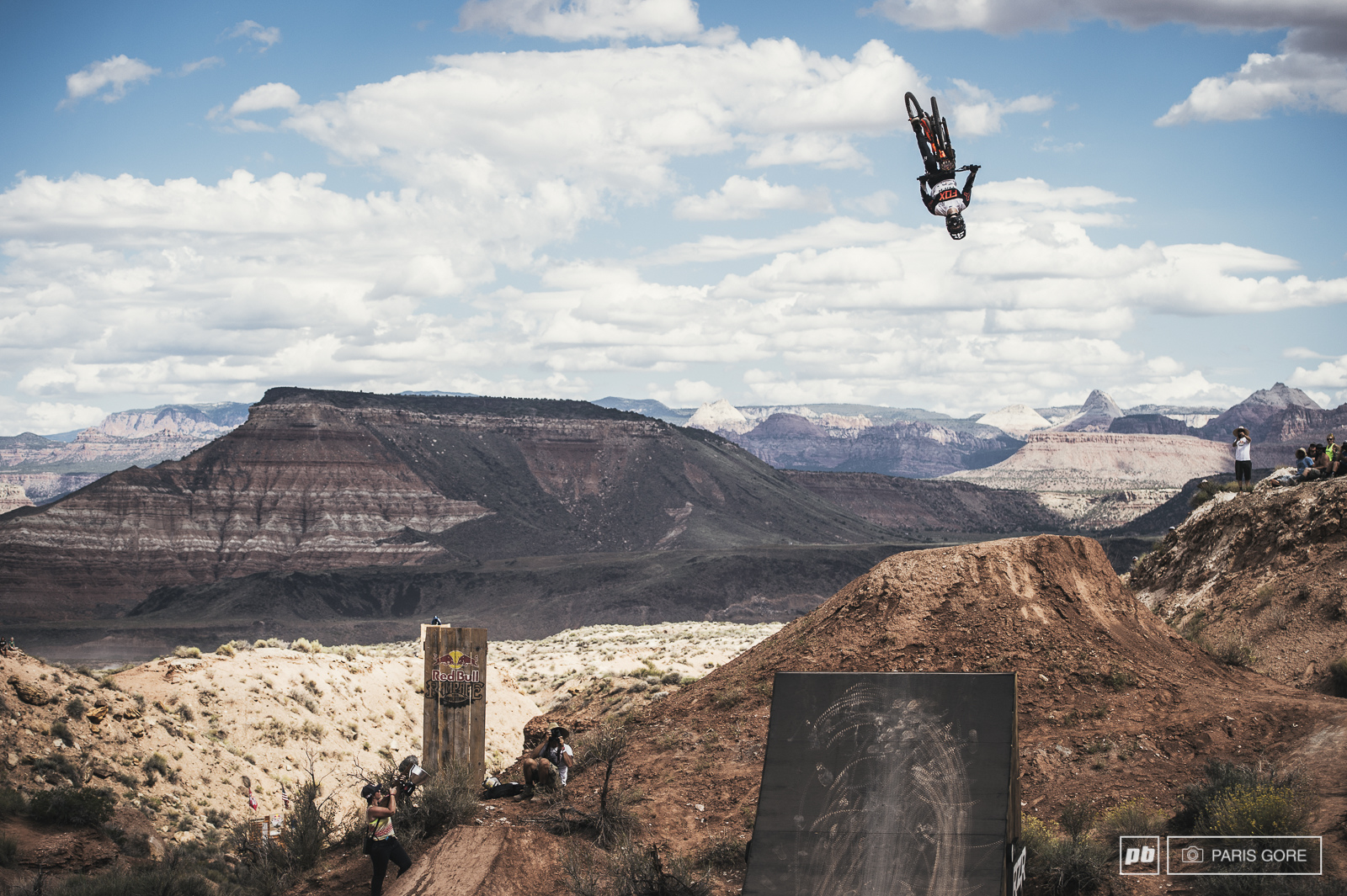 Brett Rheeder blasting upside down over Zion and into the first qualifier for today and guaranteed to ride on Sunday.