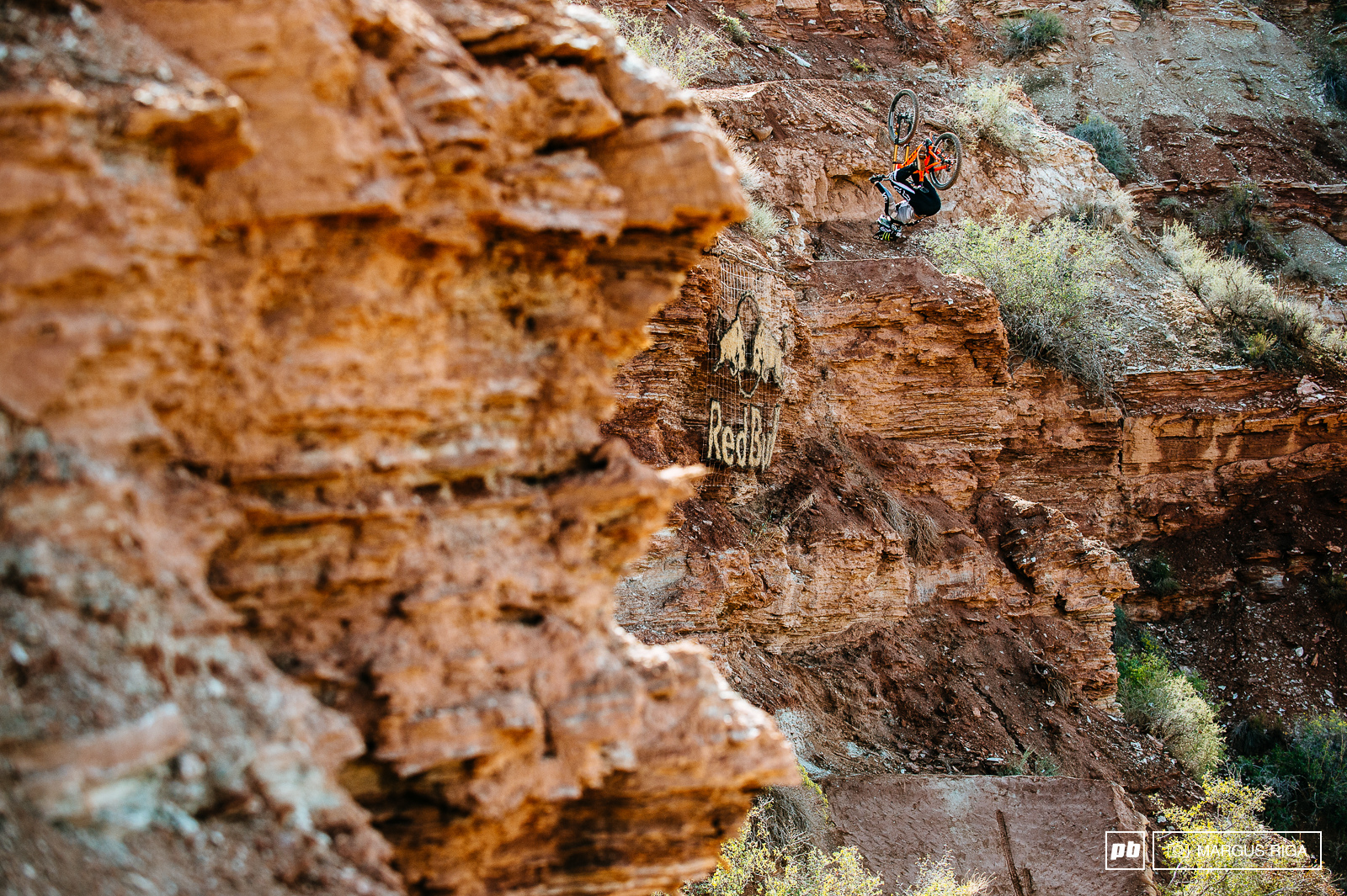 Brett Rheeder was more solid than the rocks he was riding on.