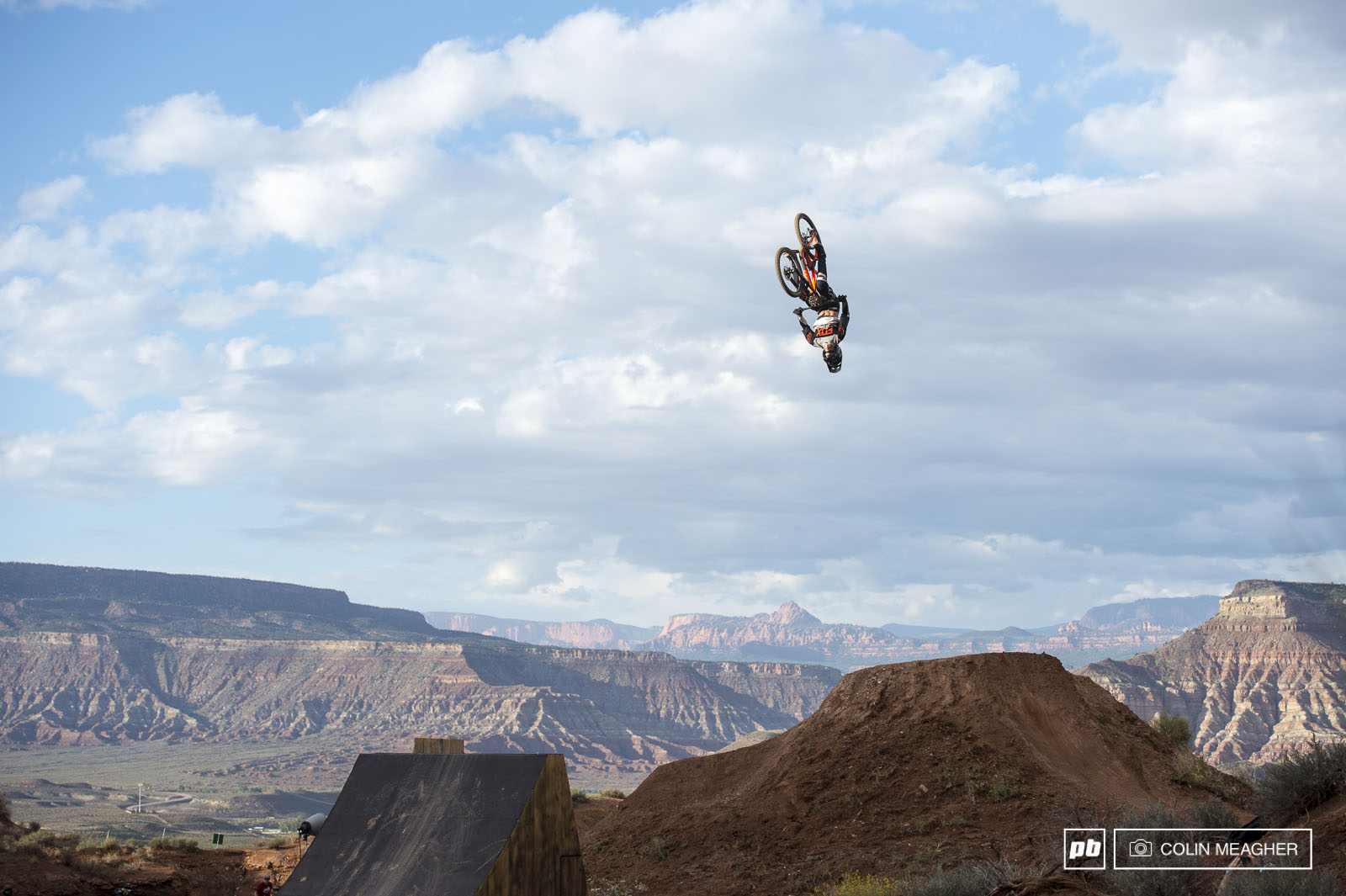 Brett Rheeder applying for some frequent flier miles on the RZR step up.